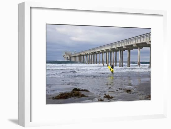 Scripps Pier I-Lee Peterson-Framed Photographic Print