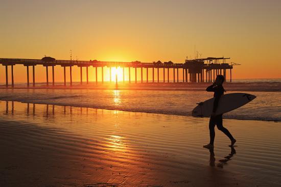 Scripps Pier, La Jolla, San Diego, California, United States of America, North America-Richard Cummins-Photographic Print