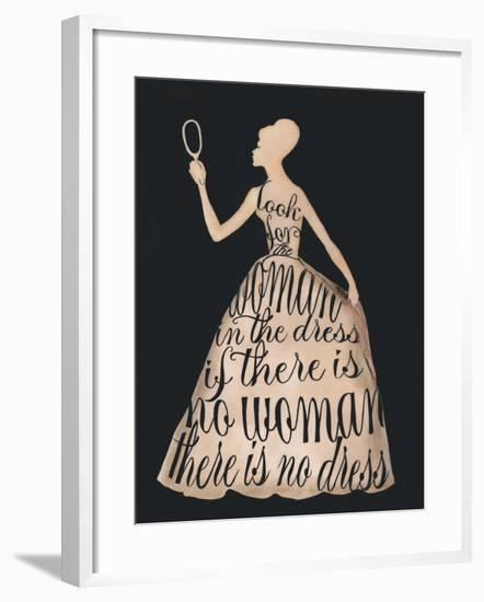 Script Dress-Lisa Jones-Framed Art Print
