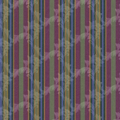 Scroll Stripe Plum-Bill Jackson-Giclee Print