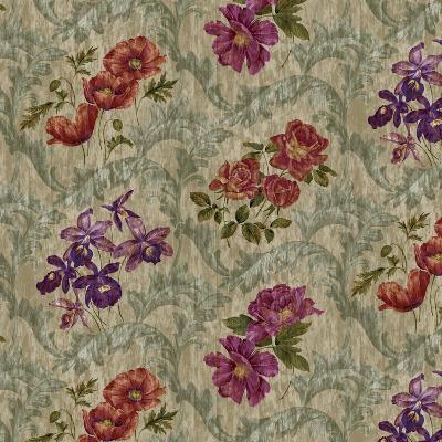 Scroll Velvet Striae Moss-Bill Jackson-Giclee Print