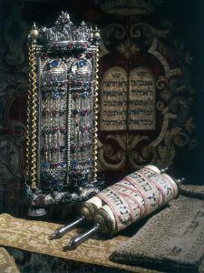 Scrolls of the Torah, Torah Cover and the Ten Commandments, 1797