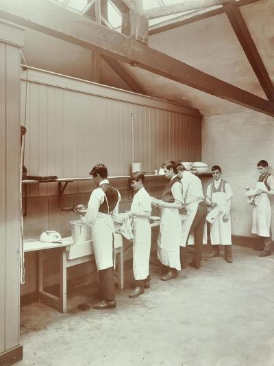 Scullery Practice, Sailors Home School of Nautical Cookery, London, 1907--Photographic Print