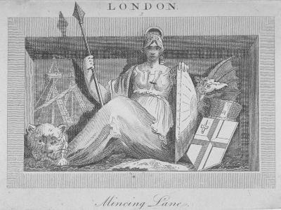 Sculptural Panel in Mincing Lane, City of London, 1815--Giclee Print