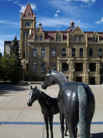 Sculpture at Calgary City Hall, Calgary, Alberta, Canada, North America-Hans Peter Merten-Photographic Print