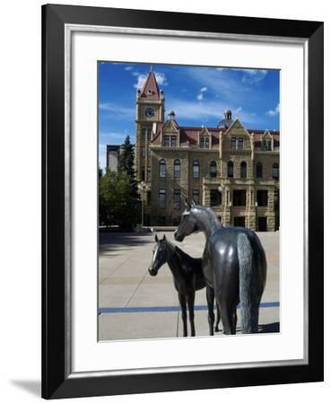 Sculpture at Calgary City Hall, Calgary, Alberta, Canada, North America-Hans Peter Merten-Framed Photographic Print