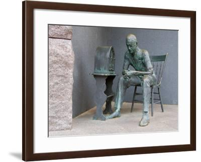 Sculpture at Franklin Delano Roosevelt Memorial, Washington DC, USA-Scott T. Smith-Framed Photographic Print