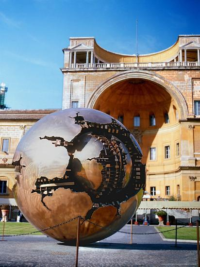 Sculpture Called Sphere By A. Pomodoro, Vatican Courtyard
