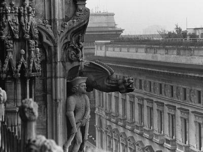 Sculpture Detail on Exterior of Il Duomo-Karen Tweedy-Holmes-Photographic Print