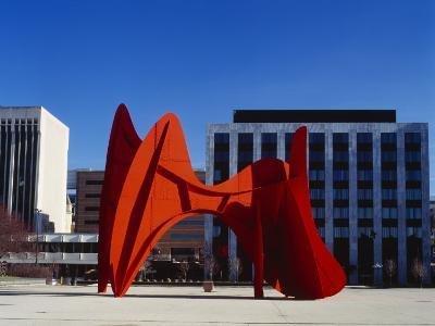 Sculpture in Front of a Building, Alexander Calder Sculpture, Grand Rapids, Michigan, USA--Photographic Print