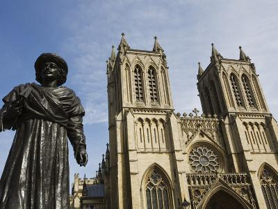 Sculpture of Bengali Scholar Outside the Cathedral, Bristol, Avon, England, United Kingdom, Europe-Jean Brooks-Photographic Print