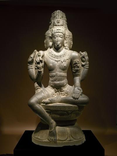 Sculpture of Shiva--Photographic Print
