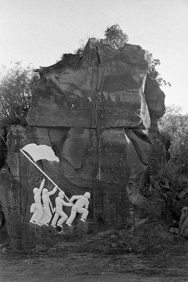 Sculpture of the Fall of Iwo Jima--Photographic Print