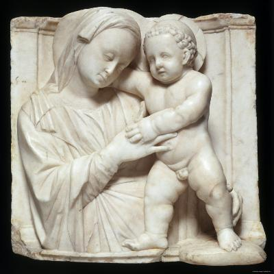 Sculpture of the Virgin and Child in Marble, c.1447-1522-Giovanni Antonio Amadeo-Photographic Print