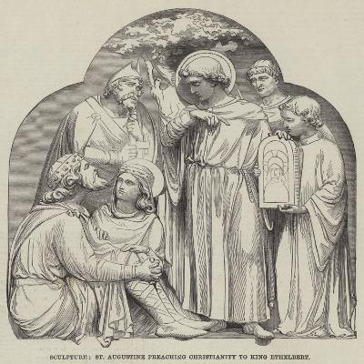 Sculpture, St Augustine Preaching Christianity to King Ethelbert--Giclee Print