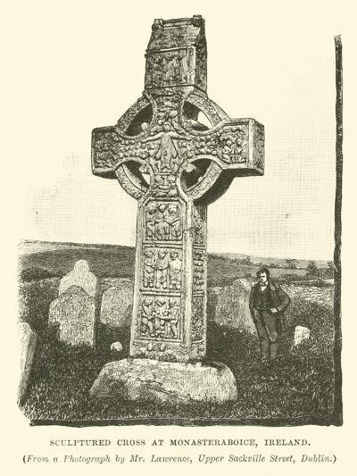 Sculptured Cross at Monasteraboice, Ireland--Giclee Print