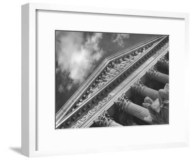 Sculptured Frieze of the US Supreme Court Building Emblazoned with Equal Justice under Law-Margaret Bourke-White-Framed Premium Photographic Print