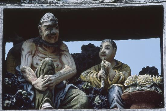 Sculptures at the Ancestral Temple of the Chen Family in Canton--Giclee Print