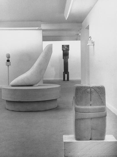 Sculptures by Brancusi on Exhibit at the Guggenheim Museum-Nina Leen-Photographic Print