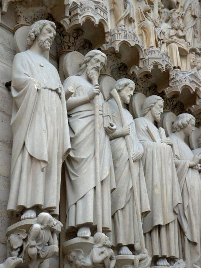 Sculptures on Notre-Dame, Paris, France-Lisa S^ Engelbrecht-Photographic Print