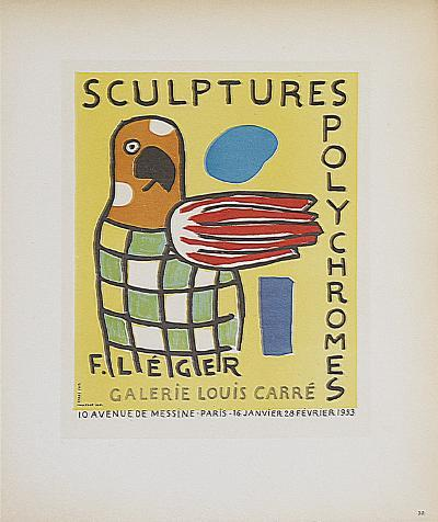 Sculptures Polychromes Galerie Louis Carre-Fernand Leger-Collectable Print
