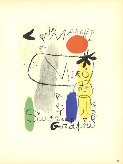 Sculptures-Joan Miro-Collectable Print