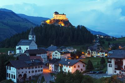 Scuol Tarasp (Tarasp Castle) (Schloss Tarasp), Engadine, Graubunden, Switzerland, Europe-Christian Kober-Photographic Print