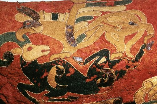 Scythian saddle-cover with applied felt decoration, 5th century BC. Artist: Unknown-Unknown-Giclee Print
