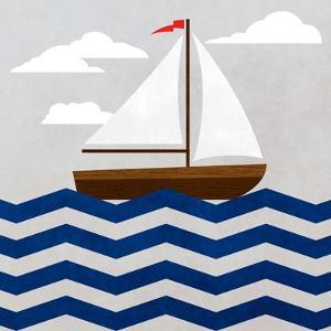 Chevron Sailing I by SD Graphics Studio