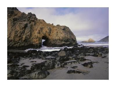 Sea arch at Pfeiffer Beach, Big Sur, California-Tim Fitzharris-Art Print