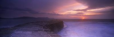 Sea at Dawn, the Cobb, Lyme Regis, Dorset, England--Photographic Print