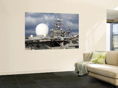 Sea Based X-Band Radar and the USS Abraham Lincoln--Wall Mural