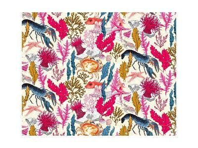 Sea Bed Repeat Pattern-Jacqueline Colley-Giclee Print