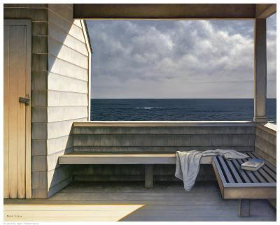 Sea Bench-Daniel Pollera-Art Print