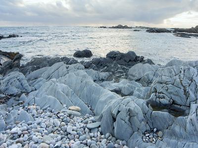 Sea Bleached Rocks, Isle of Colonsay, Inner Hebrides, Scotland, United Kingdom, Europe-Craig Easton-Photographic Print