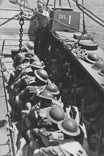 'Sea-borne Assault: Troops Move In To Madagascar', 1940-1942, (1943)-Unknown-Photographic Print