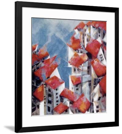 Sea City-Catherine Barnes-Framed Art Print