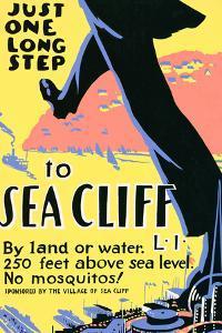 Sea Cliff Long Island NY Tourism Travel Vintage Ad