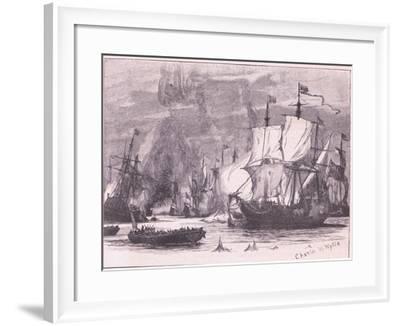 Sea Fight Off Cape Passaro Ad 1718-Charles William Wyllie-Framed Giclee Print