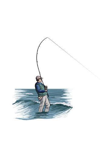 Sea Fisherman - Icon-Lantern Press-Art Print