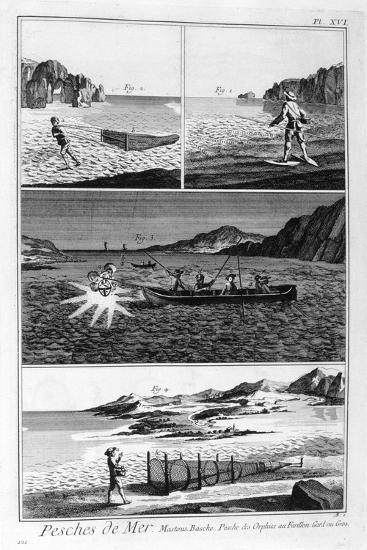 Sea Fishing, 1751-1777--Giclee Print