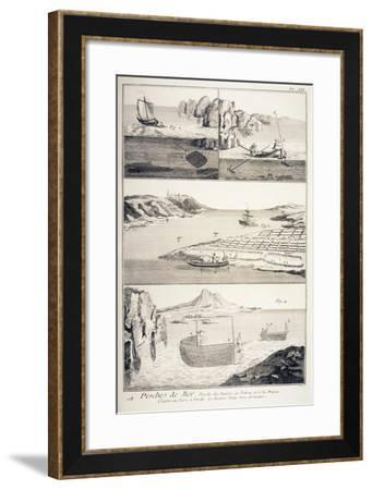 Sea Fishing--Framed Giclee Print