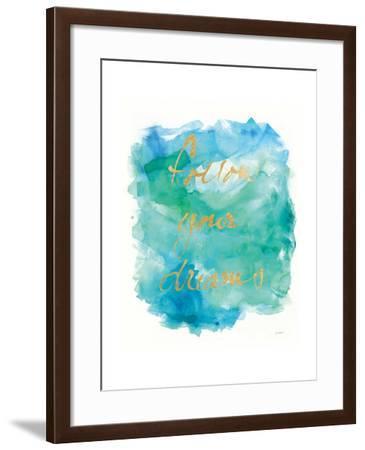 Sea Glass Saying-Mike Schick-Framed Art Print