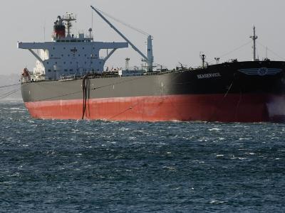 Sea-Going Tanker Anchored in Sydney Harbor-Mattias Klum-Photographic Print