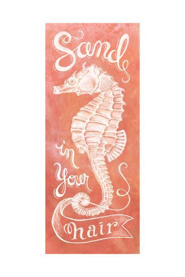 Sea Horse Coral-Mary Urban-Art Print