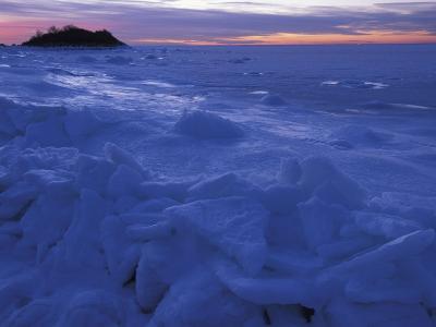 Sea Ice in Buzzards Bay, Cape Cod, Massachusetts, USA-Chris Linder-Photographic Print
