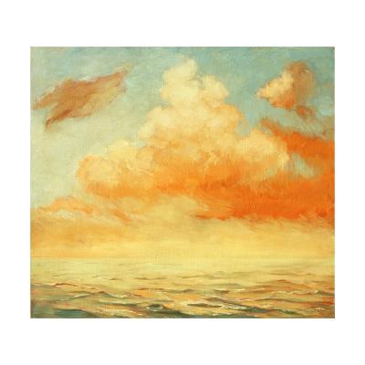Sea Landscape, Illustration, Painting by Oil on a Canvas-Mikhail Zahranichny-Art Print