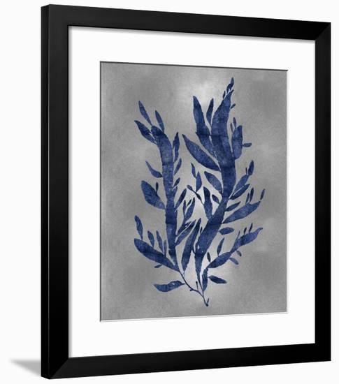 Sea Life - Blue on Silver IV-Melonie Miller-Framed Giclee Print