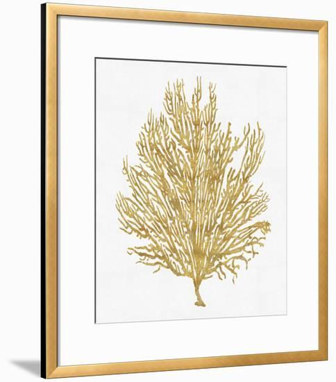 Sea Life - Gold on White V-Melonie Miller-Framed Giclee Print