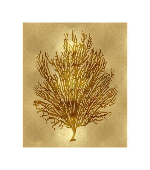 Sea Life - Gold V-Melonie Miller-Giclee Print